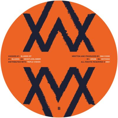 "Yan Cook ‎– Blades EP Label: Cooked ‎– COOKED07 Format: Vinyl, 12"", 33 ⅓ RPM, EP Country: Ukraine Released: 05 Mar 2021 Genre: Electronic Style: Techno"